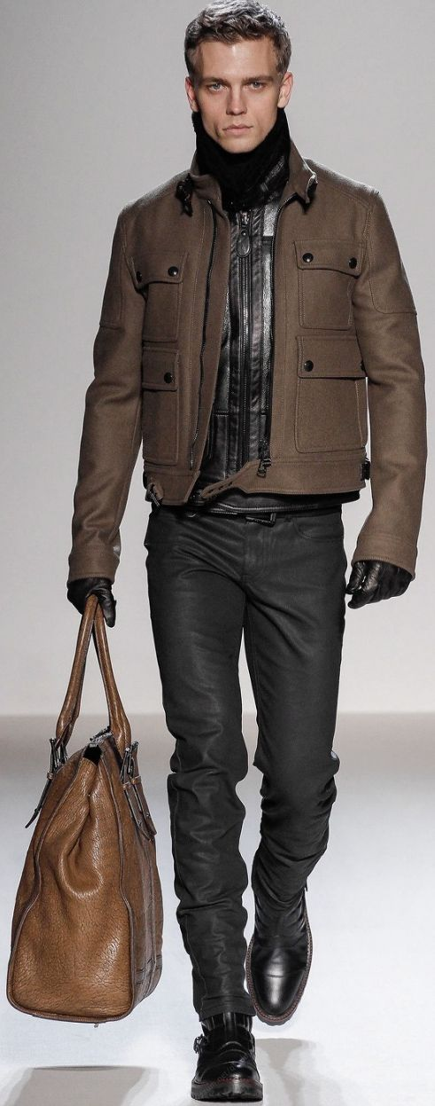Structured, Luxe and Leather. Belstaff presents its warior men's Autumn-Winter 2013-2014 collection.