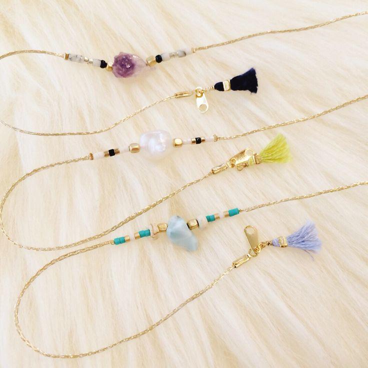 天然石を使用したアンクレット  http://amamhandmade.buyshop.jp gemstone  anklet