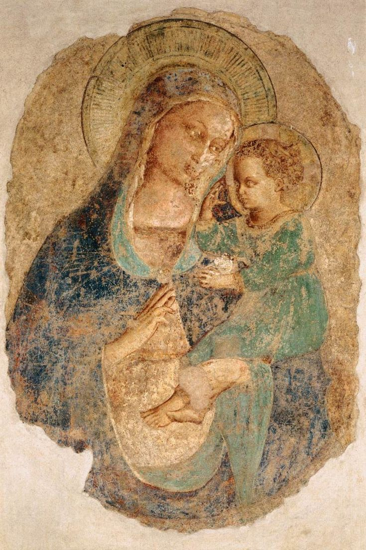 Madonna and Child // La Virgen y el Niño // 1435 // Fra Angelico // Convento di San Domenico, Fiesole // #VirginAndChild #ChristChild #motherhood