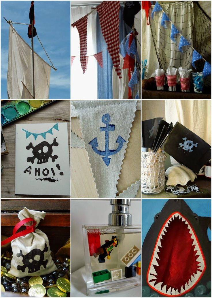 DIY Kindergeburtstag Piratenparty---Kids Birthday Party Pirate Theme  http://ernestka.blogspot.de/2014/06/piraten-party.html