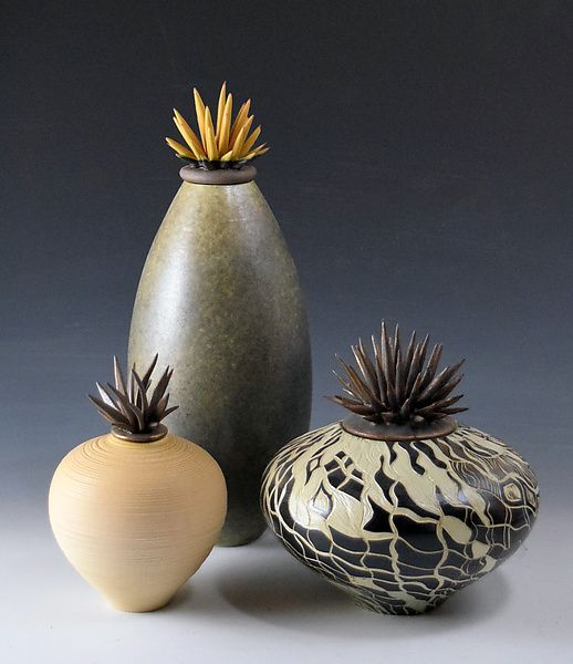 Warm Tone Vessels by Natalie Blake: Ceramic Vessel available at www.artfulhome.com
