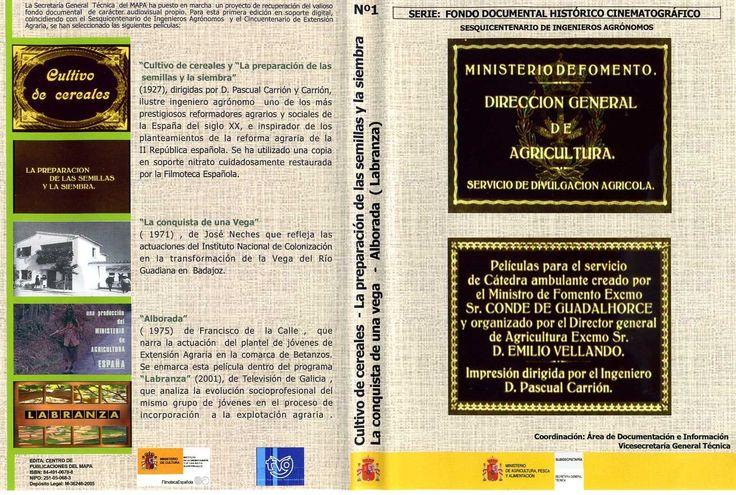 Primeira edición en soporte dixital ,realizada pola Secretaria General Técnica del MAPA como parte do proxecto de recuperación do fondo documental de carácter audiovisual propio e coincidindo co Sesquicentenario de Ingenieros Agrónomos e o Cincuentenario de Extensión Agraria.