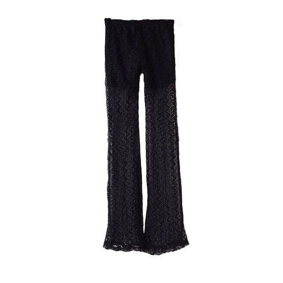 Vintage Black Lace Pants Street Fashion Trending Fashion by LPSNUG