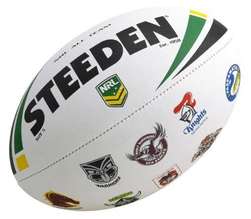 NRL Rugby Ball Team Logo Steeden
