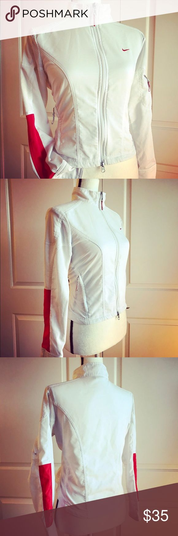 White Nike sport jacket size Small Nike sport jacket. Size Small. Cute on. Nike Jackets & Coats