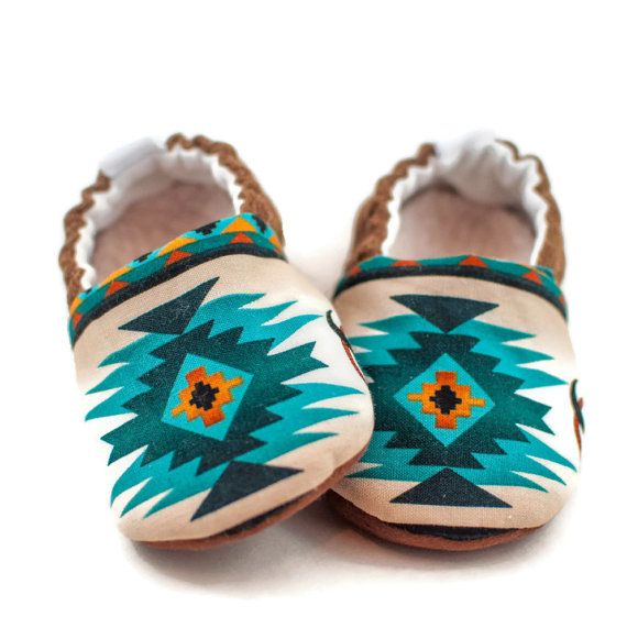 Baby Boy Shoes Baby Gift Southwest Tribal Style by KaribooKids