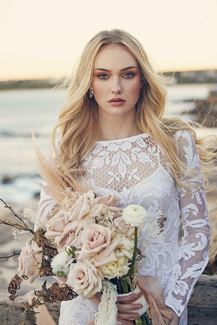 Beachside Bridal Style Ideas Polka Dot Wedding Bridal Style Wedding Dresses Lace Wedding Dresses [ 1104 x 736 Pixel ]