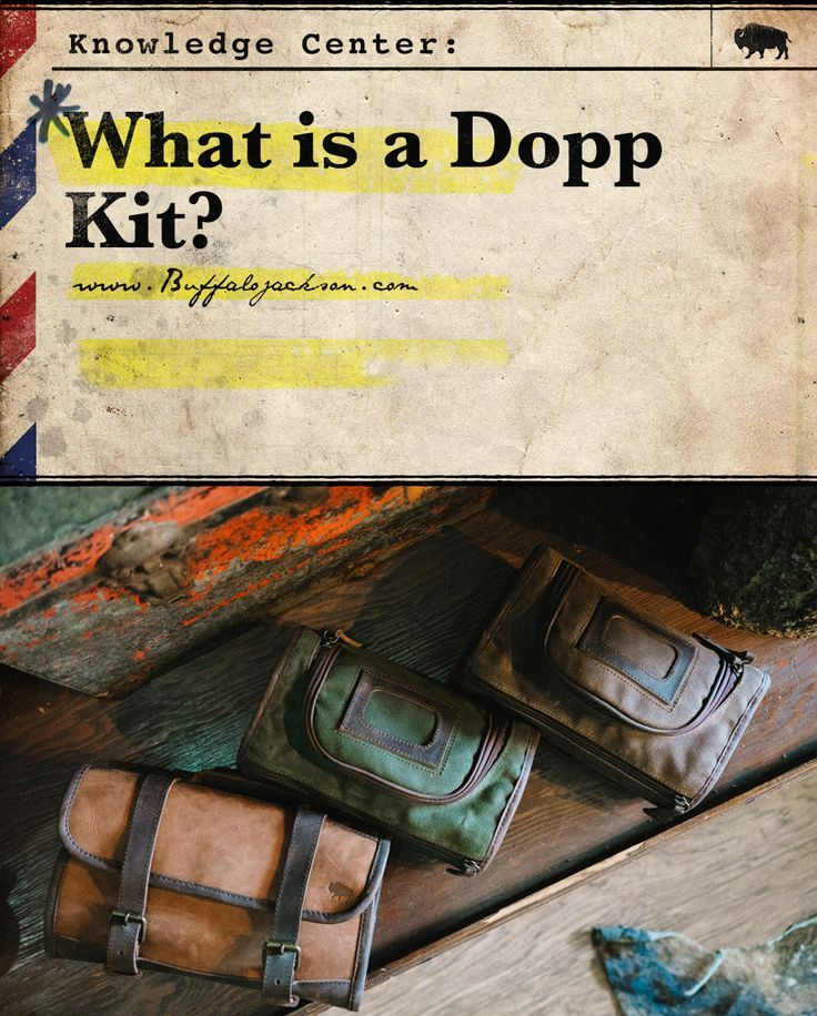 What is a Dopp kit? First, yes it's Dopp kit (not dopp kitt), and it's a mens toiletry bag with some great history behind it. Men have carried their travel essentials in these leather or canvas kits since WWII. Read on for a quick tutorial on this vintage travel case; its contents may evolve over time, but its purpose remains the same.