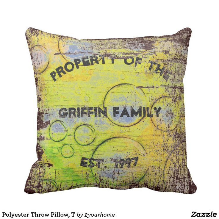 Polyester Throw Pillow, T