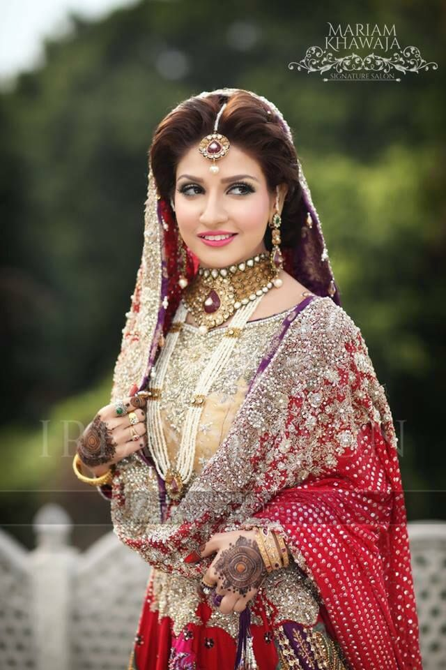 Barat bride makeup by Mariam khawaja