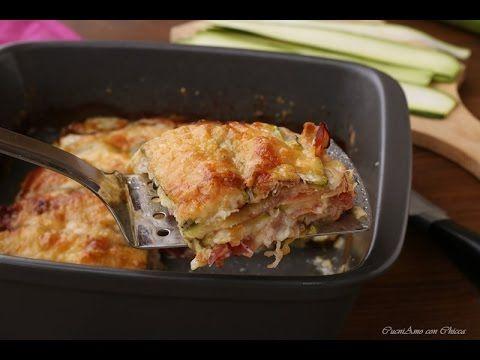 Lasagna di zucchine con speck e provola - YouTube