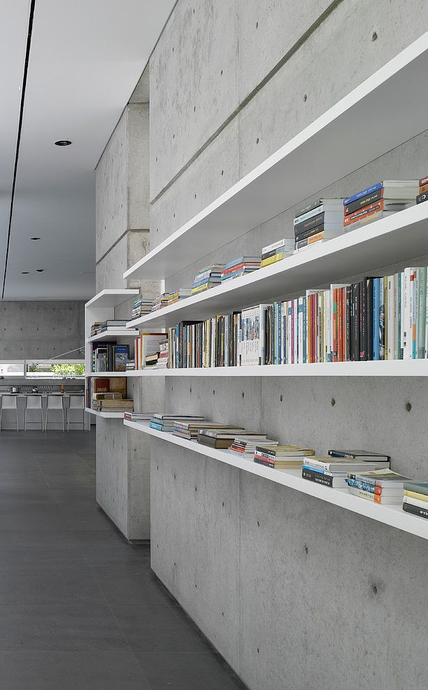 Concrete Library By Axelrod Stept Architects