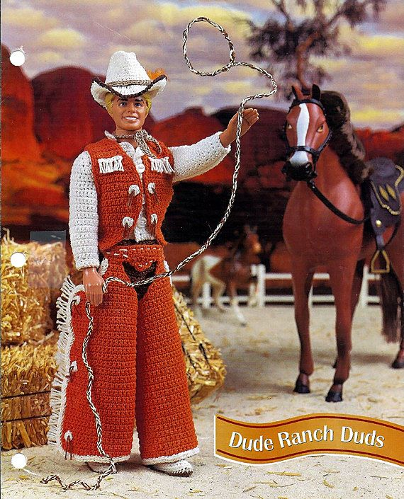 Dude Ranch Duds Crochet Pattern for Country Western Ken