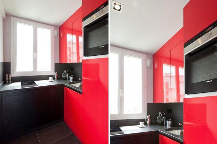 Decoration Chambre Petite Fille Ikea : Une cuisine attractive en rouge  Déco  vive le fluo !  Pinterest