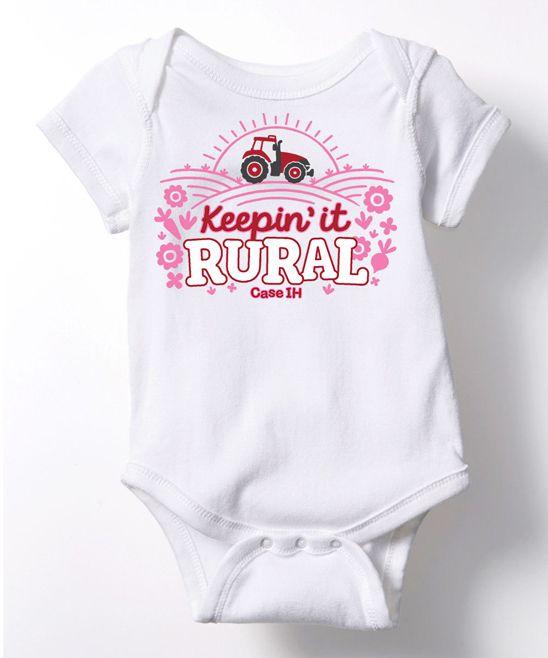 White 'Keepin It Rural' Bodysuit - Infant