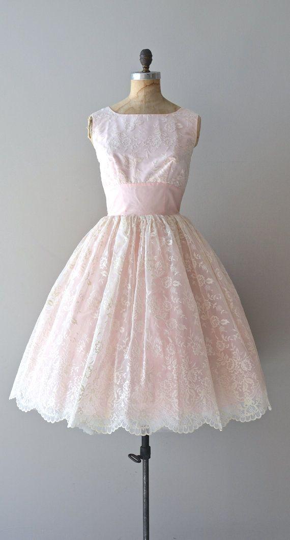 vintage 1950s dress / 50s party dress / WellTempered by DearGolden, $224.00