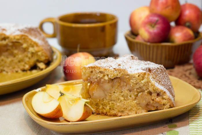 Яблочный пирог с овсянкой (геркулесом)