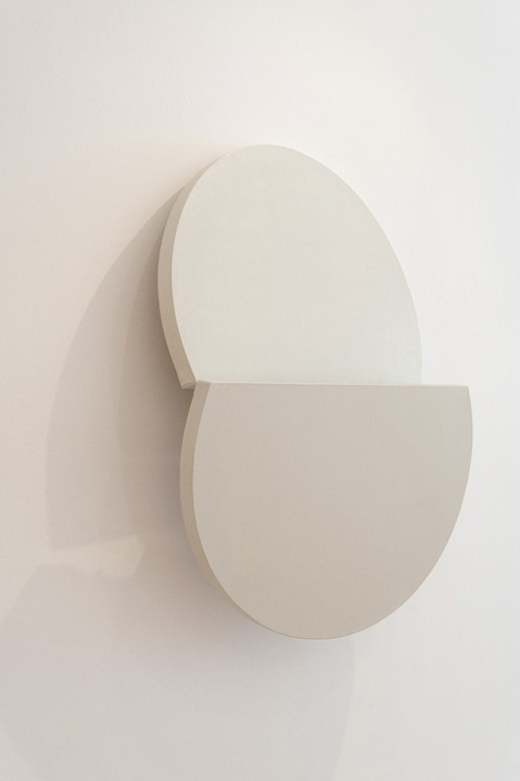 Simon Callery - Pale Mirror Pit Painting - Oil on canvas with wood support - 102 x 74 x 24 cm - 2012