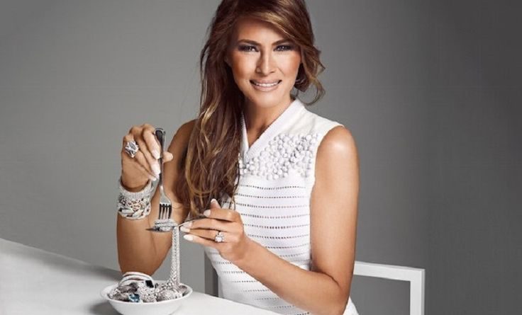Melania Trump Ibu Negera Amerika Serikat, Wanita yang menarik perhatian Trump.