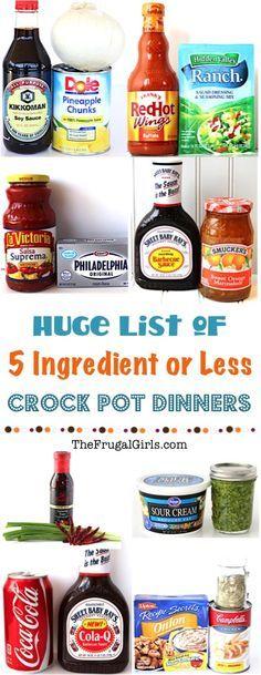 5 Ingredient Crock Pot Recipes!