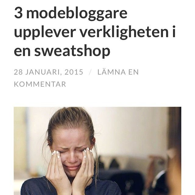 Nybloggat: tips om sevärd norsk dokumentärserie där tre modebloggare får uppleva verkligheten i en kambodjansk sweatshop. (Engelsk textning). www.ecosphereblog.wordpress.com // www.ecosphere.se || #ethicalproduction #ethical #etiskt #etiskproduktion #ethicalfashion #sustainablefashion #sweatshop #fashionbloggers