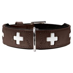 Hunter Halsband Swiss braun/schwarz