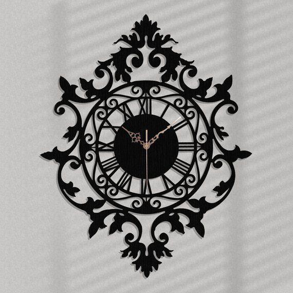 Stylish Ornamental Wall Clock Benedict Vintage Wooden Wall Clock Wall Art Decor Living Room Large Decorative Wall Clock Original Gift Clock Wall Decor Large Wall Clock Decor Wall Clock