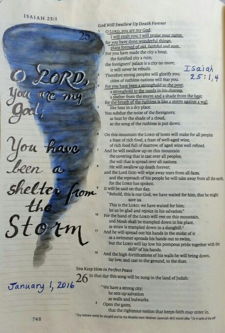 Isaiah 25:1, 4 - a shelter from the storm - by Paula Kay Bourland