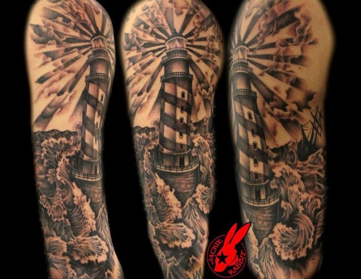 Light House Tattoo by Jackie Rabbit   Flickr - Photo Sharing!