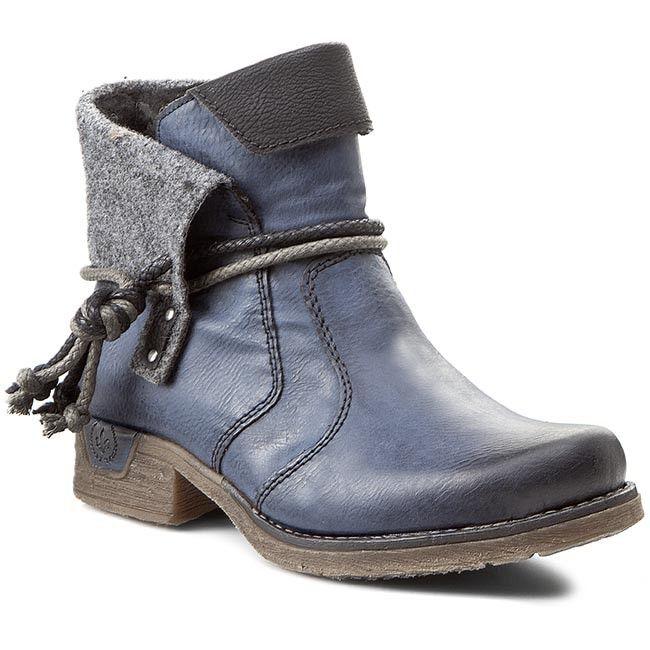 Magasított cipő RIEKER - 79693-14 Blue Combination