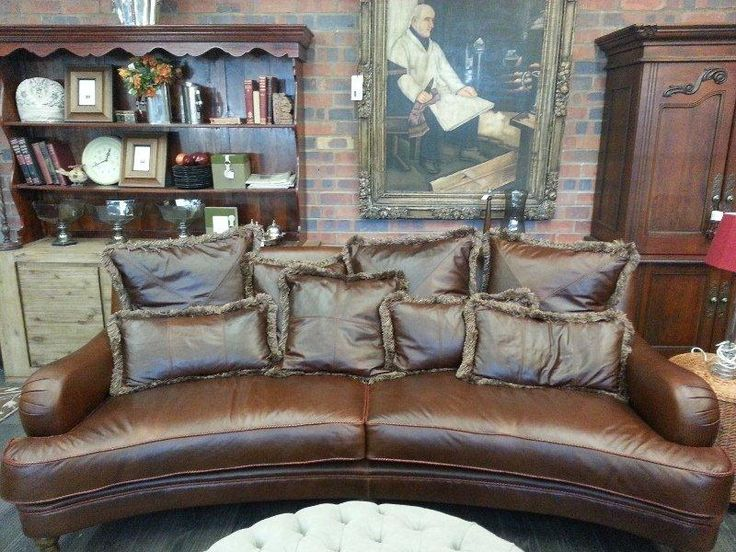 Our Regal Treacle leather used for a sofa for Wetherly's. Designed by Petite.