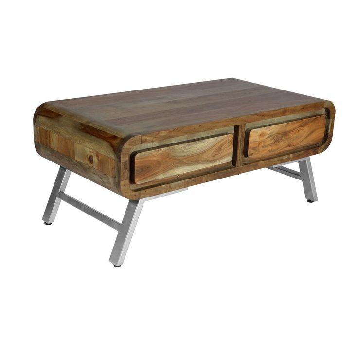 New Vintage Industrial Retro Reclaimed coffee table 2 drawer retro coffee table #Unbranded #VintageRetro