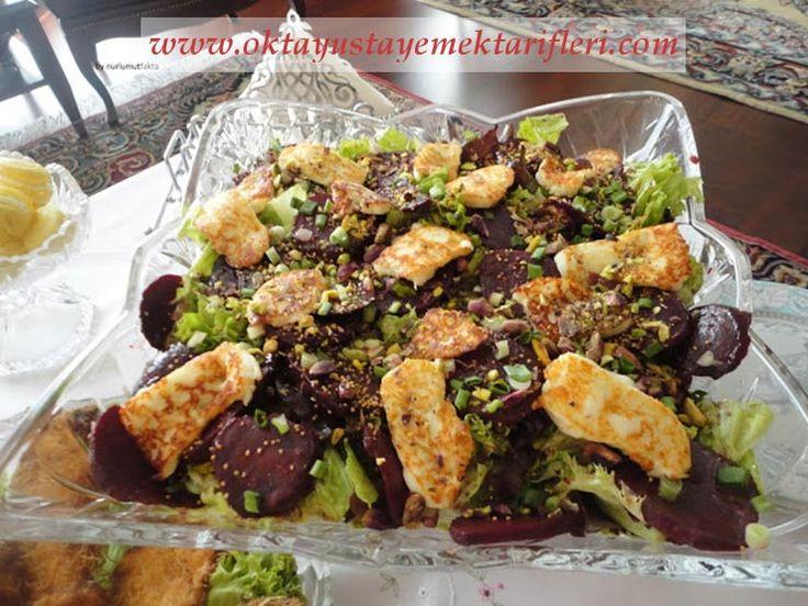 Hellimli Pancarlı Yeşil Salata