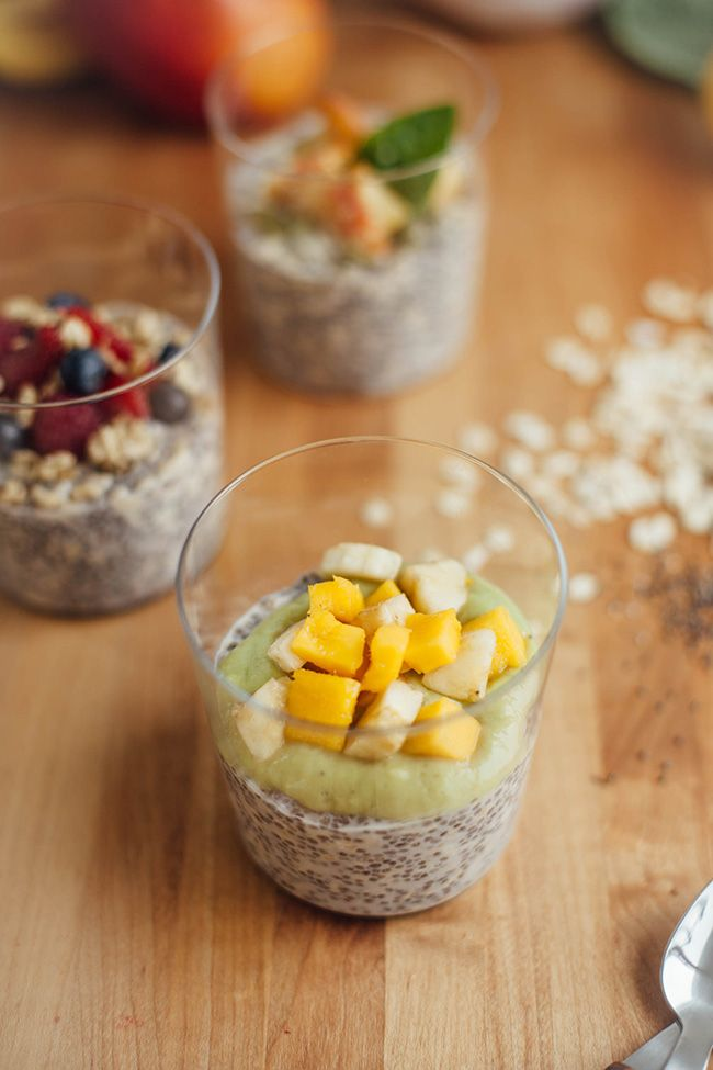 Overnight Oats with Chia Seeds – 3 Ways for Summer | http://helloglow.co/overnight-oats-with-chia-seeds-3-ways-for-summer/