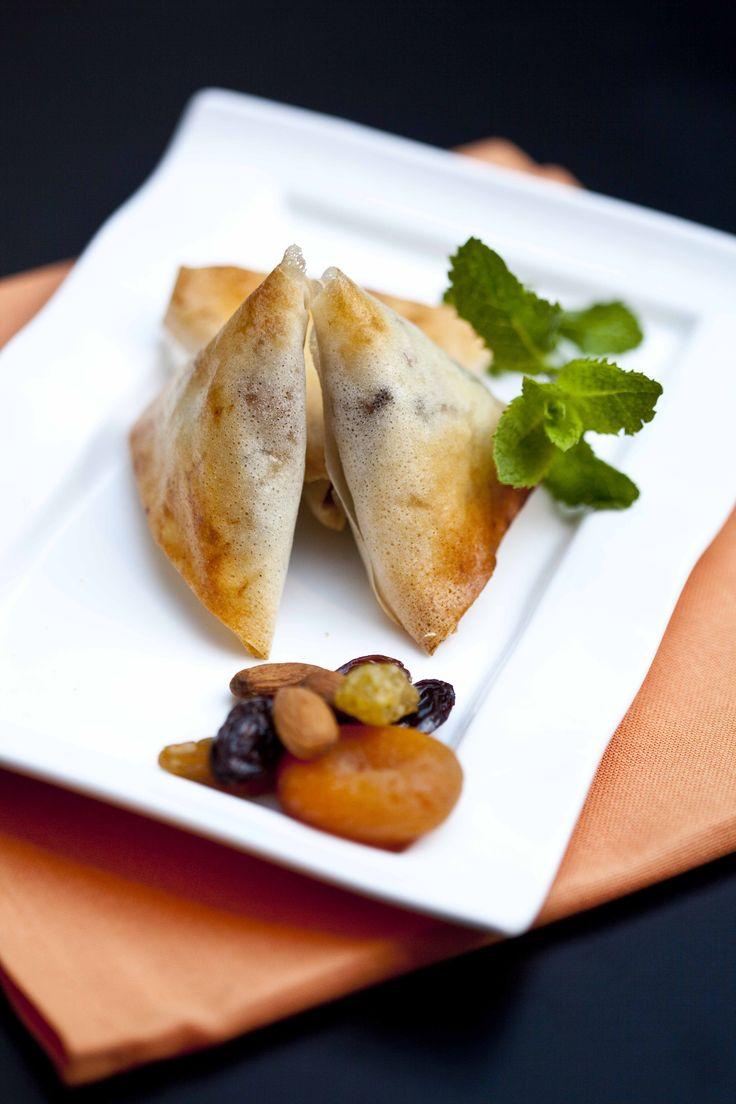 Briouate au filet de lapin, fruits secs et canelle