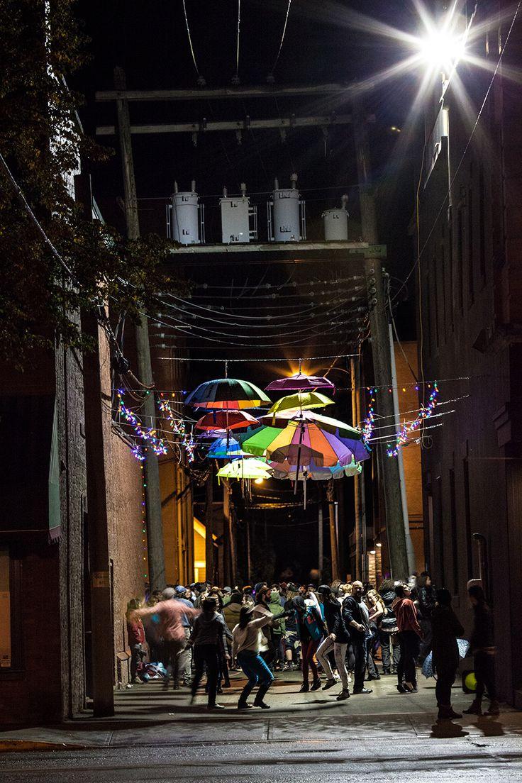 Luna Art Festival - Umbrella Alley - Revelstoke, B.C.