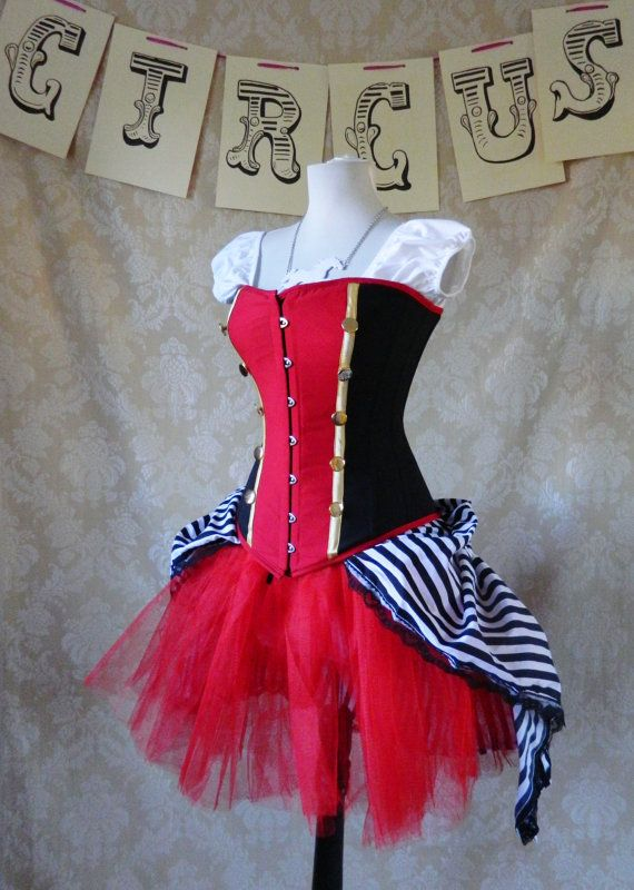 """Psycho Circus Bustle Tie On Skirt and Tutu Set-To Fit Up To A 34"""" Waist. $98.00, via Etsy."""