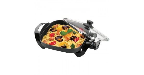 Αντικολλητικό ηλεκτρικό σκεύος, 1500W.- Ιδανικό για υγιεινό μαγείρεμα: βράσιμο, ψήσιμο, μαγείρεμα στον ατμό και απόψυξη- Αντικολλητική επίστρωση για εύκολο καθαρισμό- Γυάλινο καπάκι με λαβή, από υλικό υψηλής αντοχής στη θερμότητα- Γρήγορη θέρμανση και λειτουργία διατήρησης θε