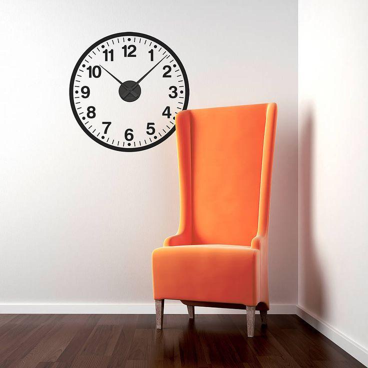 Working Clock Wall Sticker