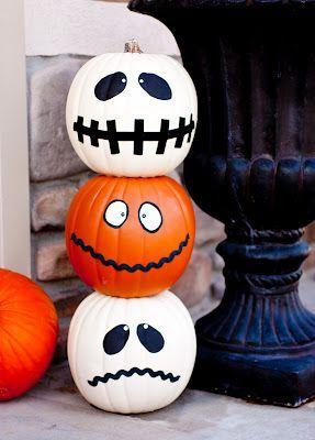 citrouille d'halloween peints