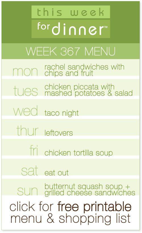 Best 25+ Weekly dinner menu ideas on Pinterest Weekly dinner - dinner menu