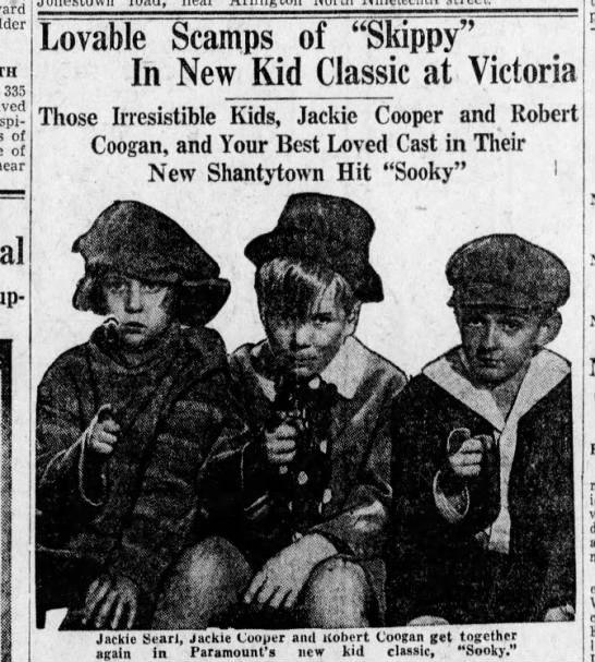"December 26, 1931  Victoria Theater - Harrisburg PA  ""Sooky"""