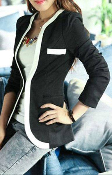 Slim Fit Long Sleeve Suit Blazer (More Colors Available)