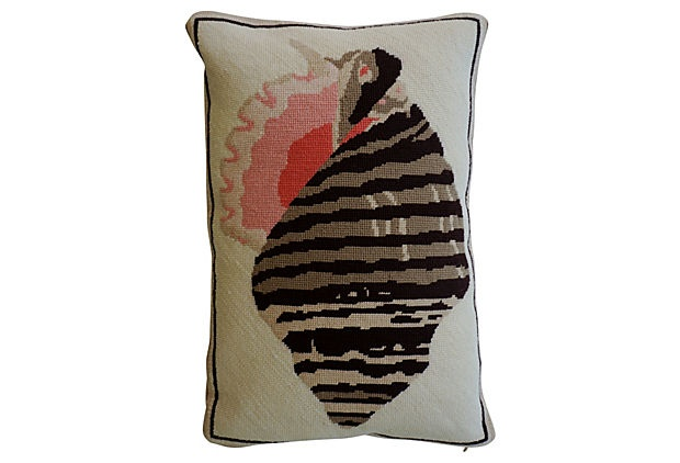 Shell Needlepoint Pillow on OneKingsLane.com