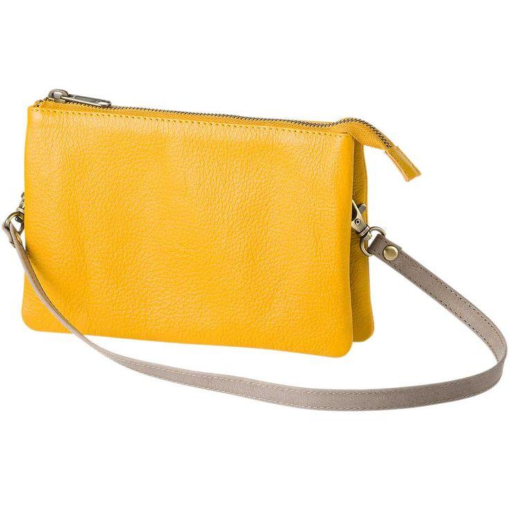 Taschen und Rucksäcke : Umhängetasche, mit Reißverschluss, mit Mittelfach, Schulterriemen verstellbar, eco-Leder, 20x13x5