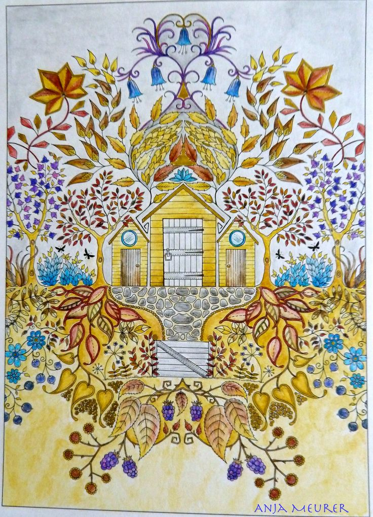 Picture From Johanna Basford Secret Garden Postcards Colouring Anja Meurer