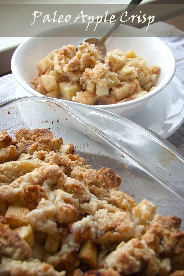 Healthy Paleo Apple Crisp! Perfect for breakfast or as a guilt-free splurge =)