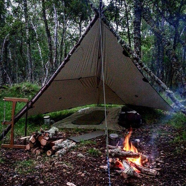 Cette image réprésente bien la mode de camping que je fait souvent.