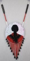 Traditional Cherokee Beading Designs | Below: Cherokee beadwork sampler, made by girls from the Cherokee ...