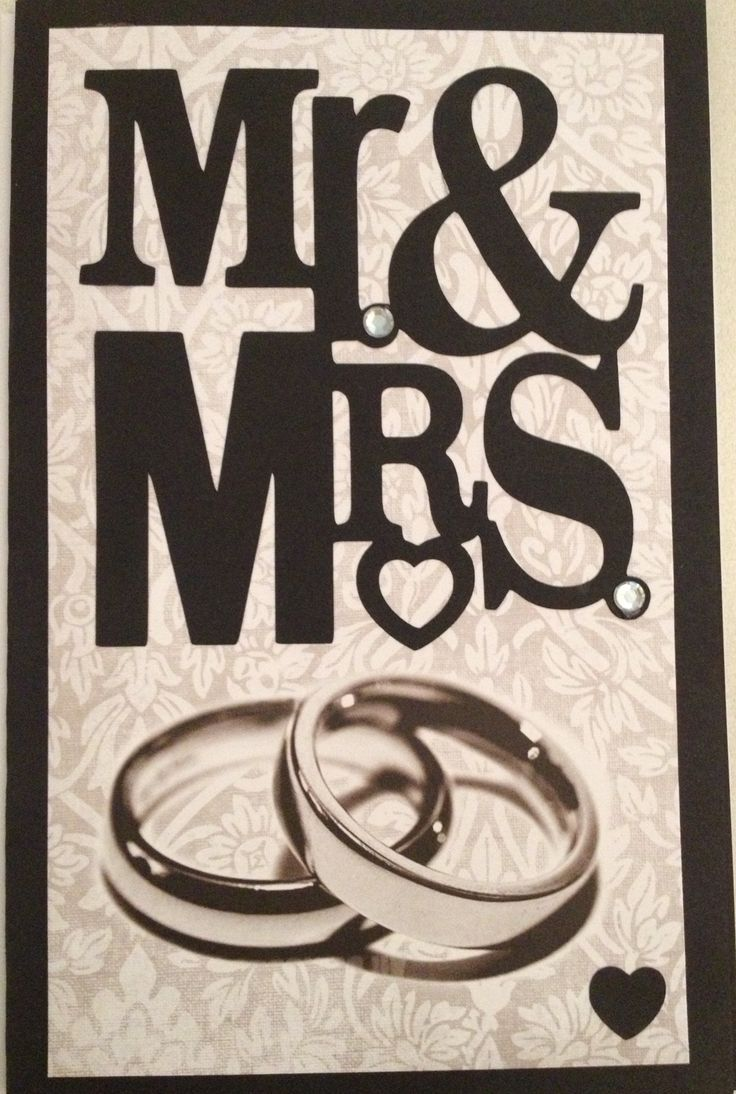 wedding cards creator online%0A Mr and Mrs cricut wedding card  Sweethearts cartridge